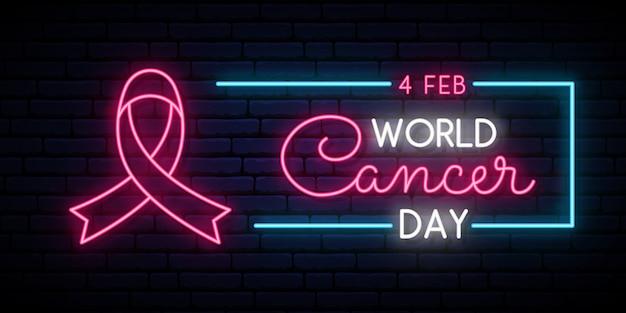 World cancer day Premium Vector