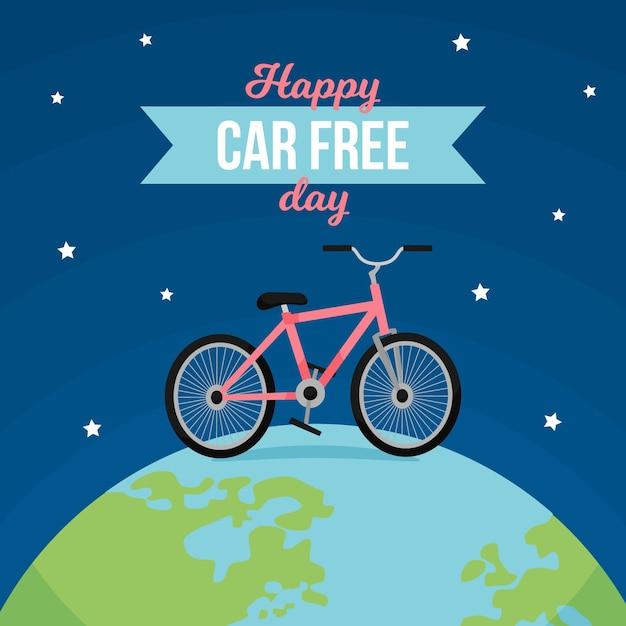 Concetto di giornata libera per auto del mondo Vettore gratuito