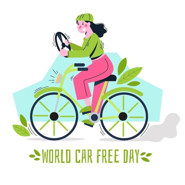 Disegno di giornata libera per auto del mondo Vettore gratuito