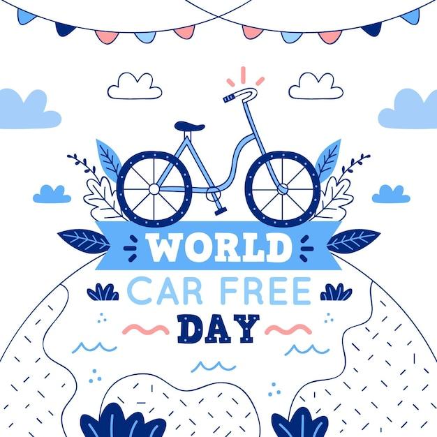 Всемирный автомобильный день без иллюстрации Бесплатные векторы