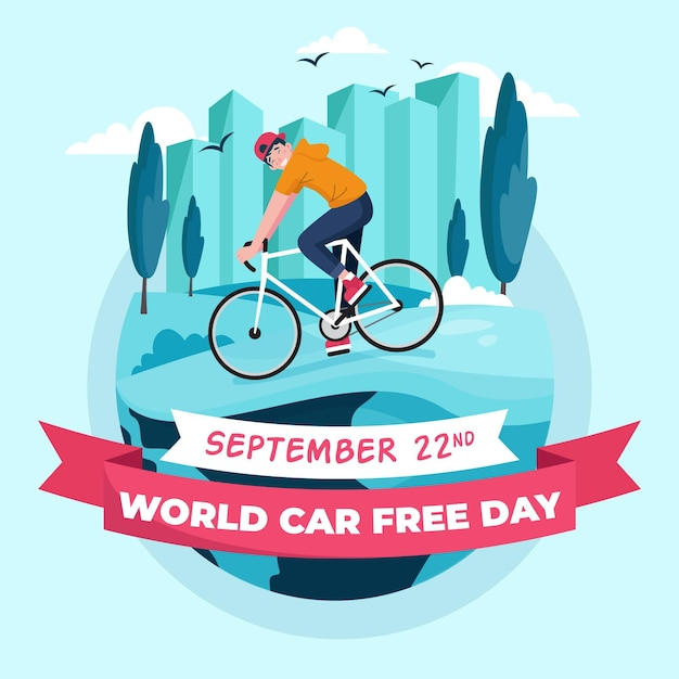World car free day Free Vector
