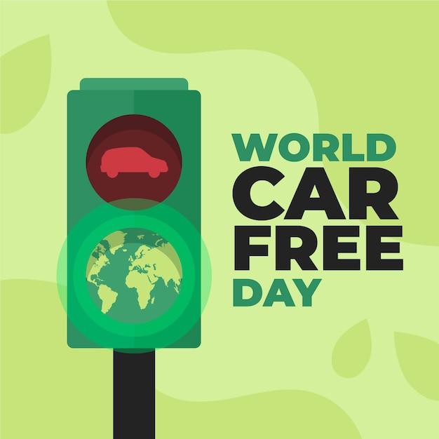 Мир без автомобилей Бесплатные векторы