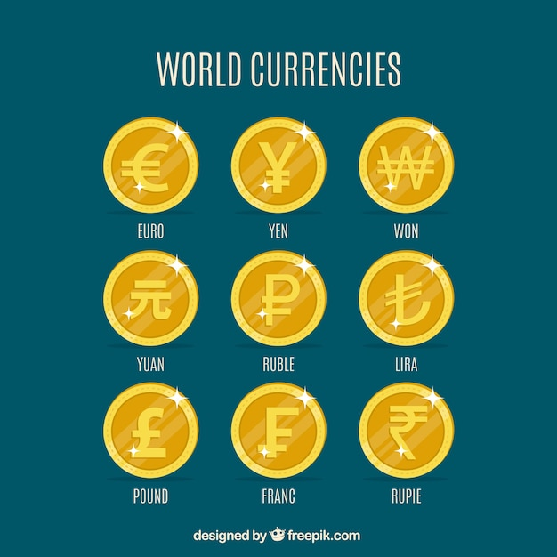 World coins set Free Vector