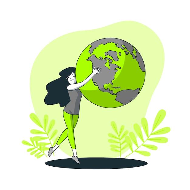 世界の概念図 無料ベクター
