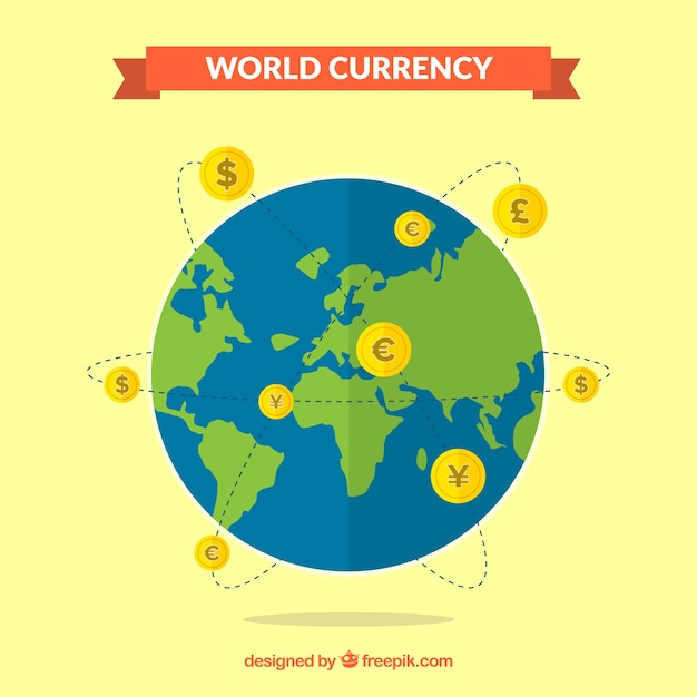 World currency concept Free Vector