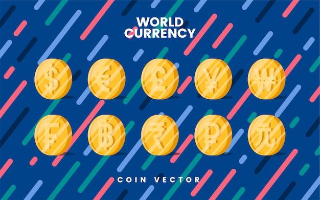 Vettore di simbolo dei soldi di valuta del mondo Vettore gratuito