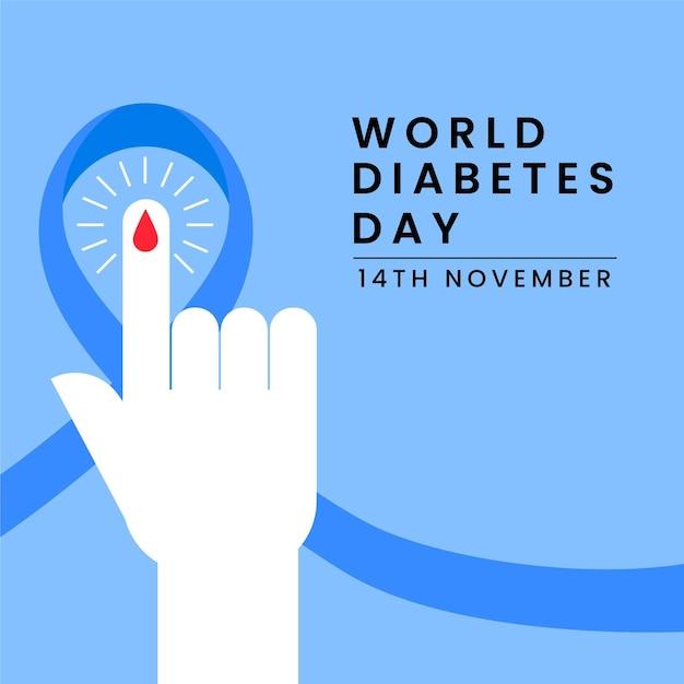 世界糖尿病デー11月14日 Premiumベクター