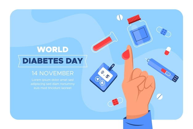 Modello di banner giornata mondiale del diabete Vettore gratuito