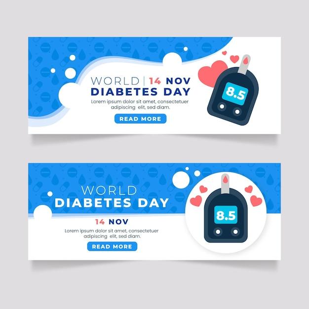 世界糖尿病デーのバナー 無料ベクター