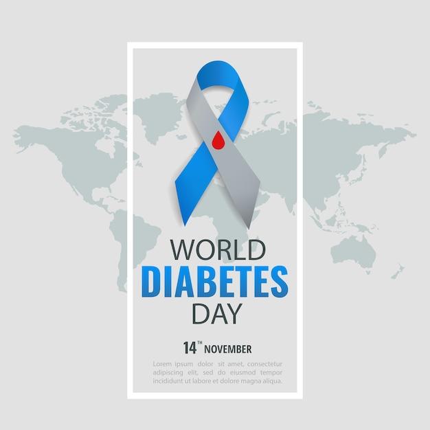Всемирный день диабета Premium векторы