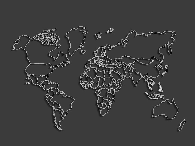 World earth planet Premium Vector