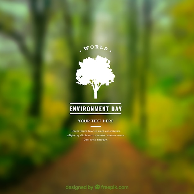 World environment day background with blurred effect Free Vector