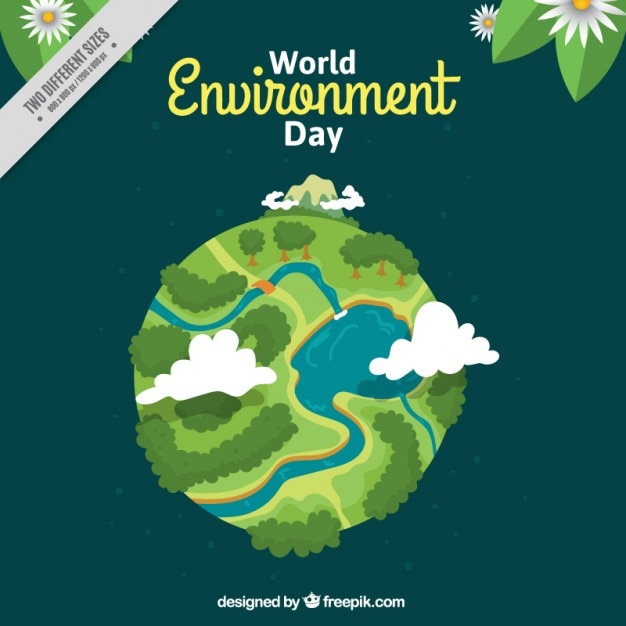 World environment day background Free Vector