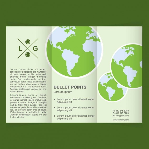 World environment day brochure Free Vector