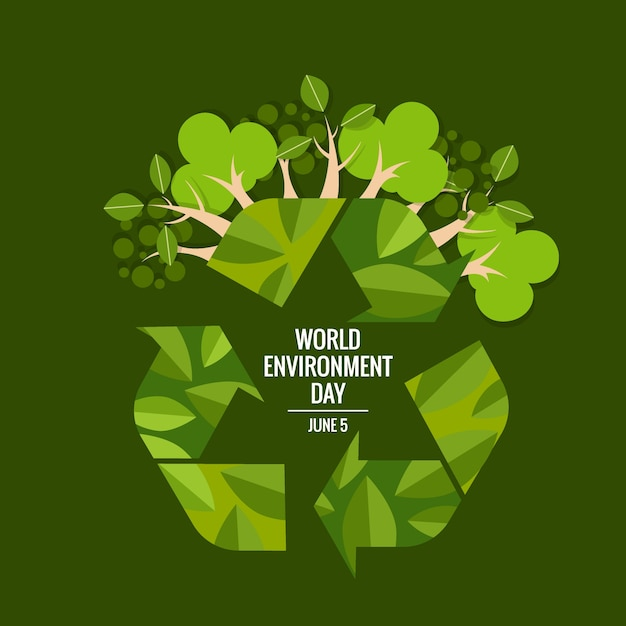 World environment day concept. Vector illustration Free Vector