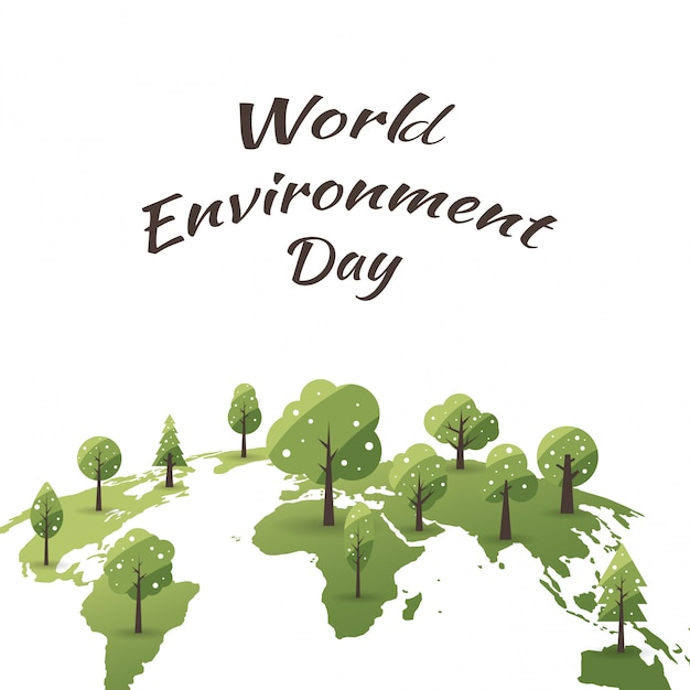 World environment day concept with save the world Premium Vector