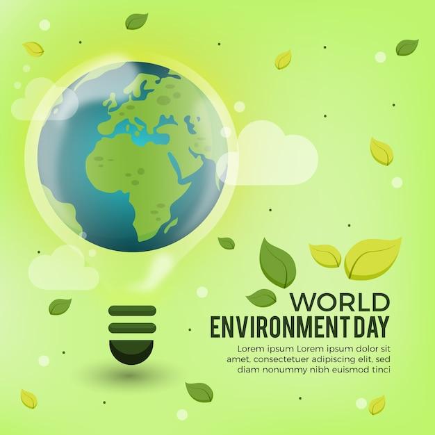 Concetto di giornata mondiale dell'ambiente Vettore gratuito