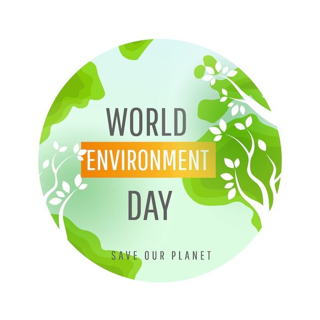 World environment day concept. Premium Vector