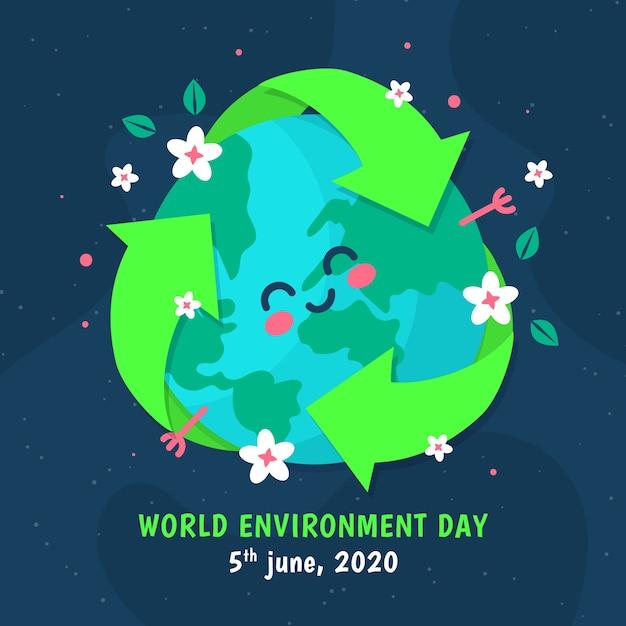 世界環境デーフラットデザイン 無料ベクター