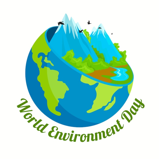 World environment day theme Free Vector