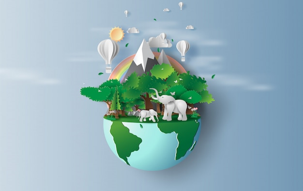 World environment and earth day Premium Vector