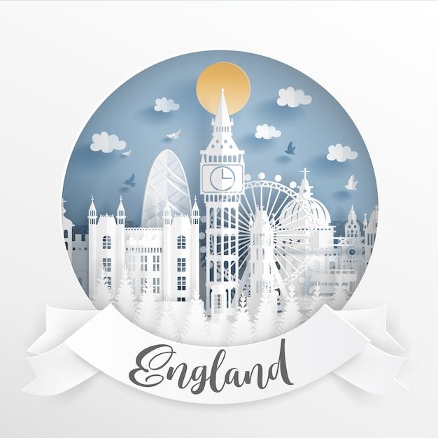 World famous landmark of london Premium Vector