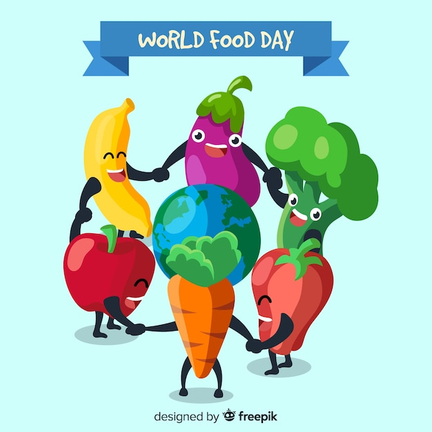 World food day background concept Free Vector