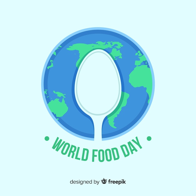 World food day background design Free Vector