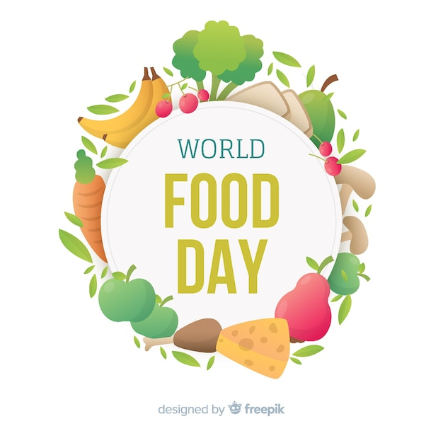 World food day background Free Vector
