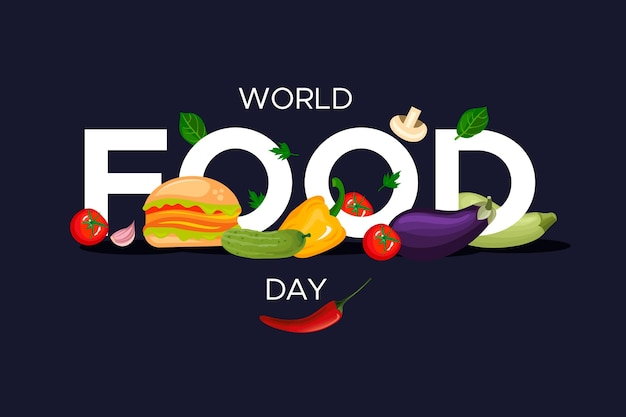 World food day celebrate flat design Free Vector