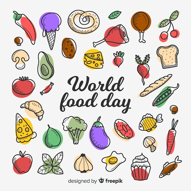 World food day concept in flat design Free Vector