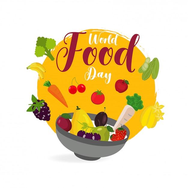 World food day concept. Premium Vector