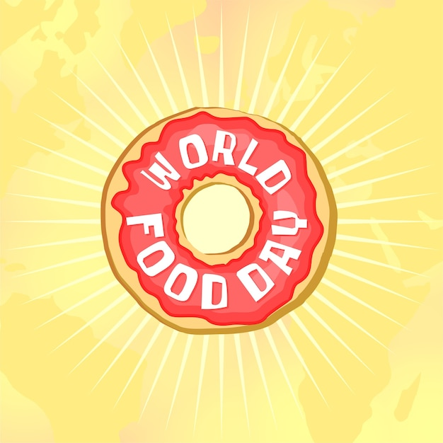 World food day donut Premium Vector