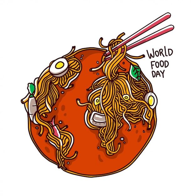 World food day illustration Premium Vector