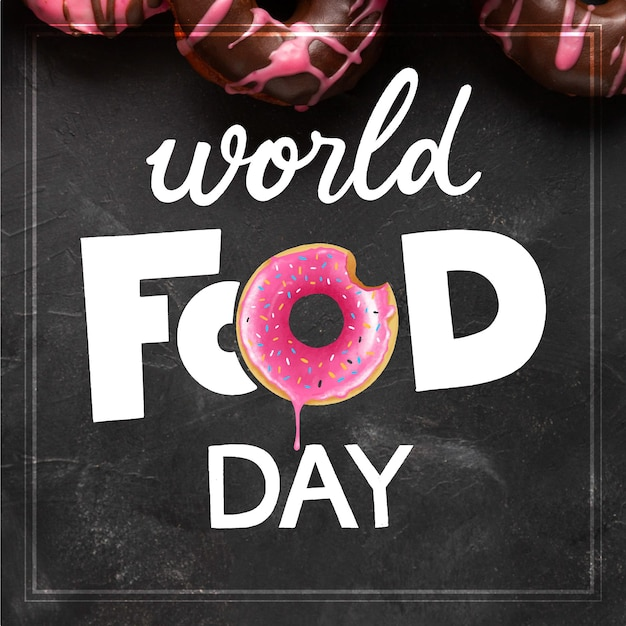 World food day lettering design Free Vector