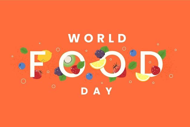 Giornata mondiale dell'alimentazione su sfondo arancione Vettore gratuito