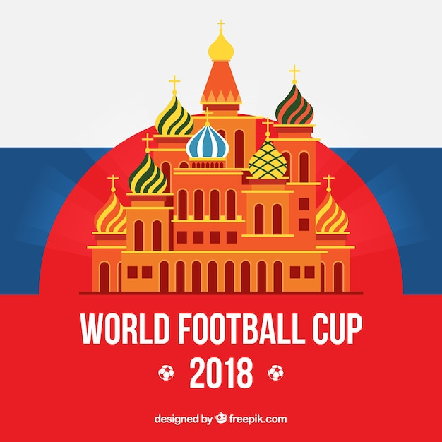 World football cup background with\ architecture