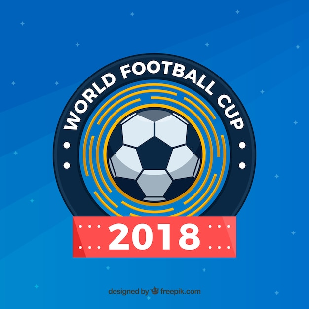 World football cup background with ball
