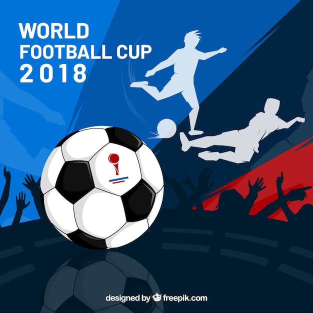 World football cup background with\ players