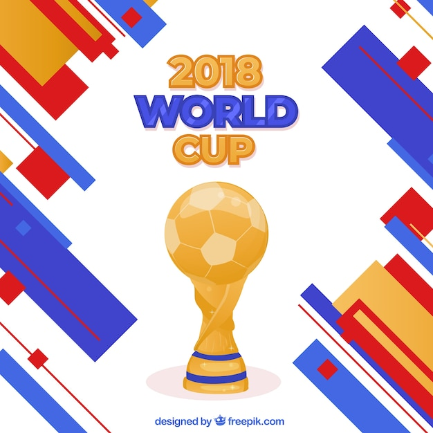 World football cup background with trophy Vector | Free Download