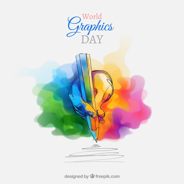 World graphics day background  Free Vector