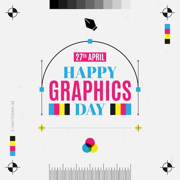 World graphics day illustration Premium Vector