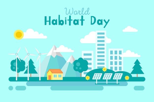 World habitat day Premium Vector