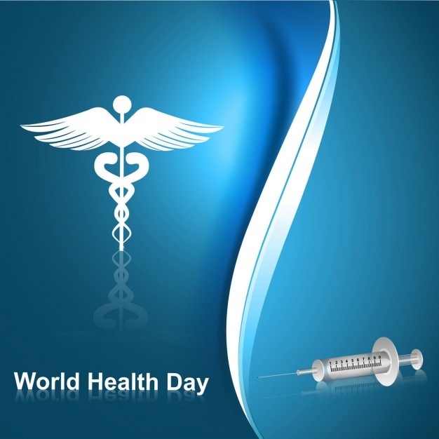 world health day abstract background with symbol and