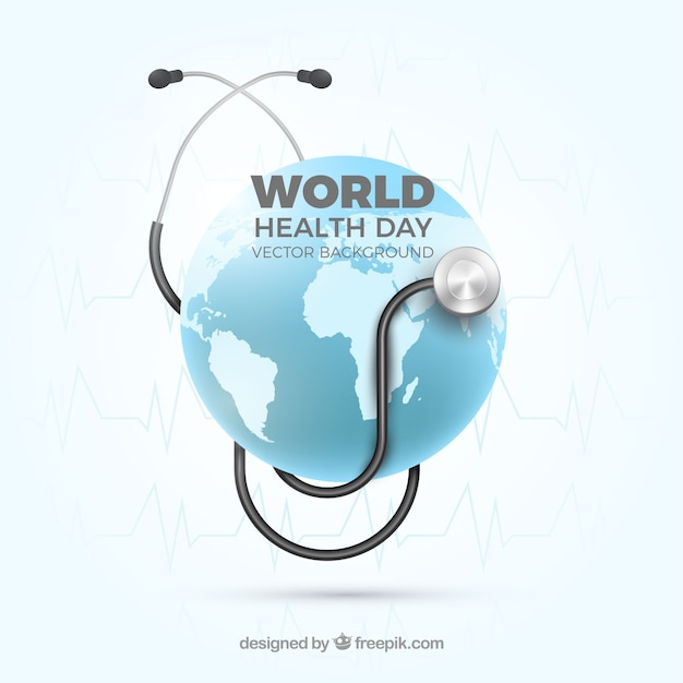World health day background in realistic\ style