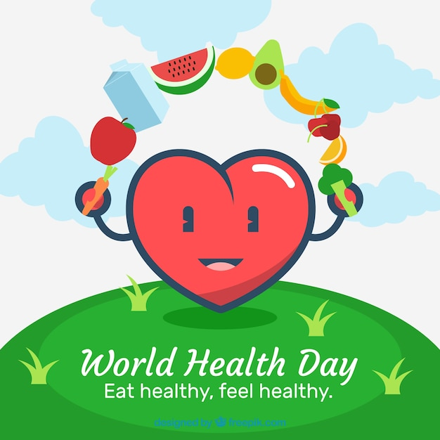 World health day background with healthy\ food