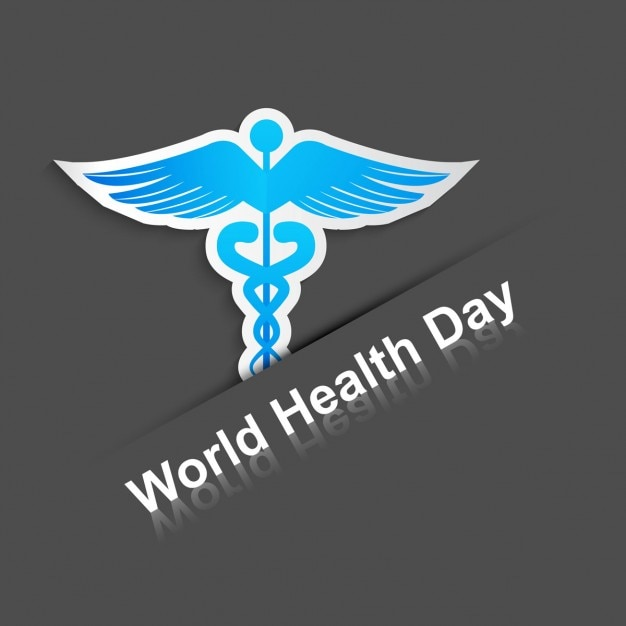World health day background with a medical symbol Free Vector