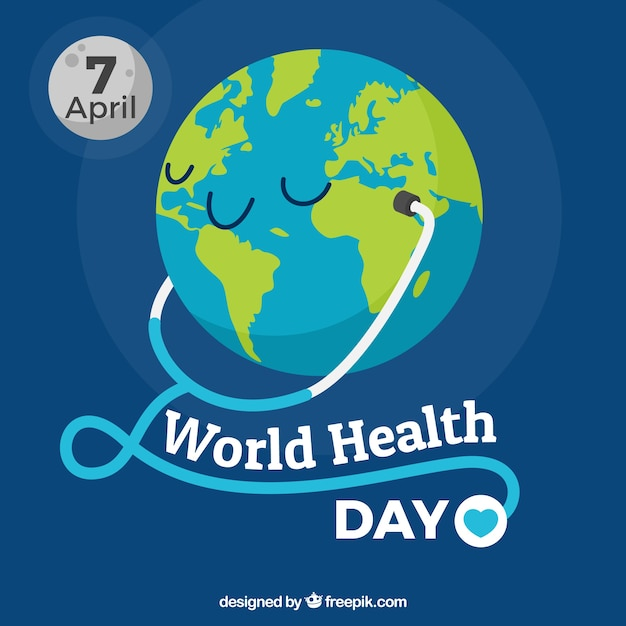 World health day background with\ phonendoscope