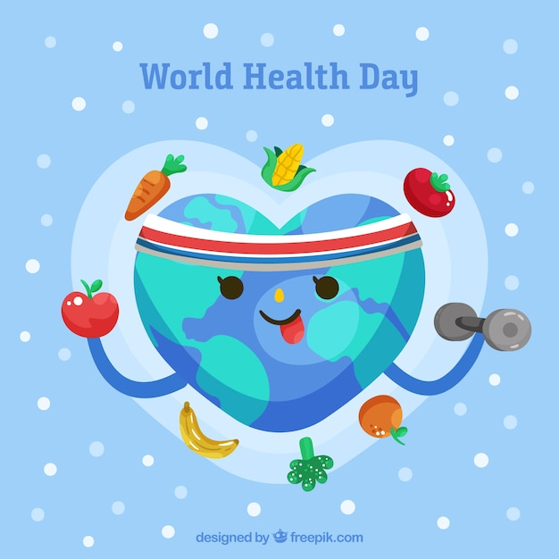 World health day background Free Vector