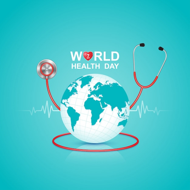 World health day concept for healthcare and medical Premium Vector